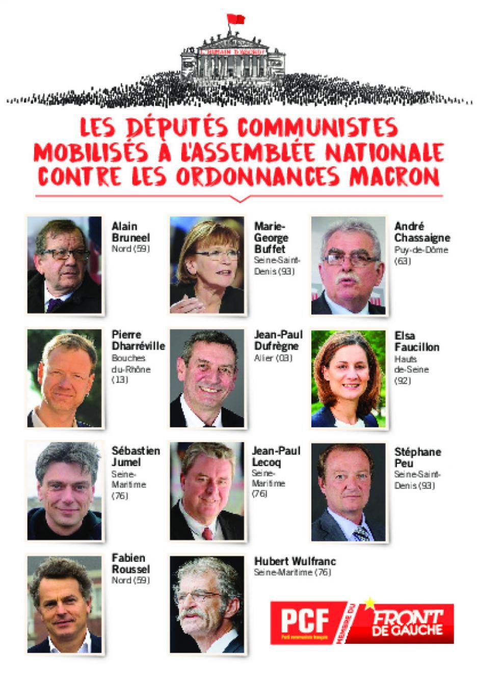 Des députés mobilisés à l'Assemblée nationale contre les ordonnances Macron